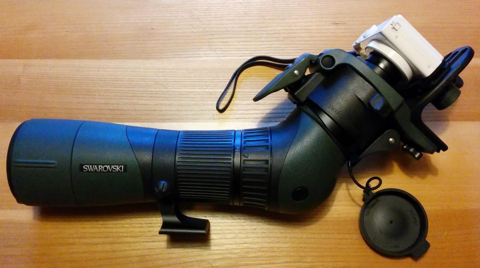 65 mm Objektiv mit Okular, DCB II und Kamera verbunden