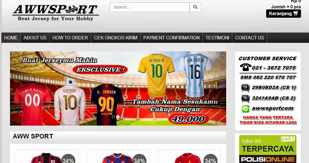 toko online jersey bola