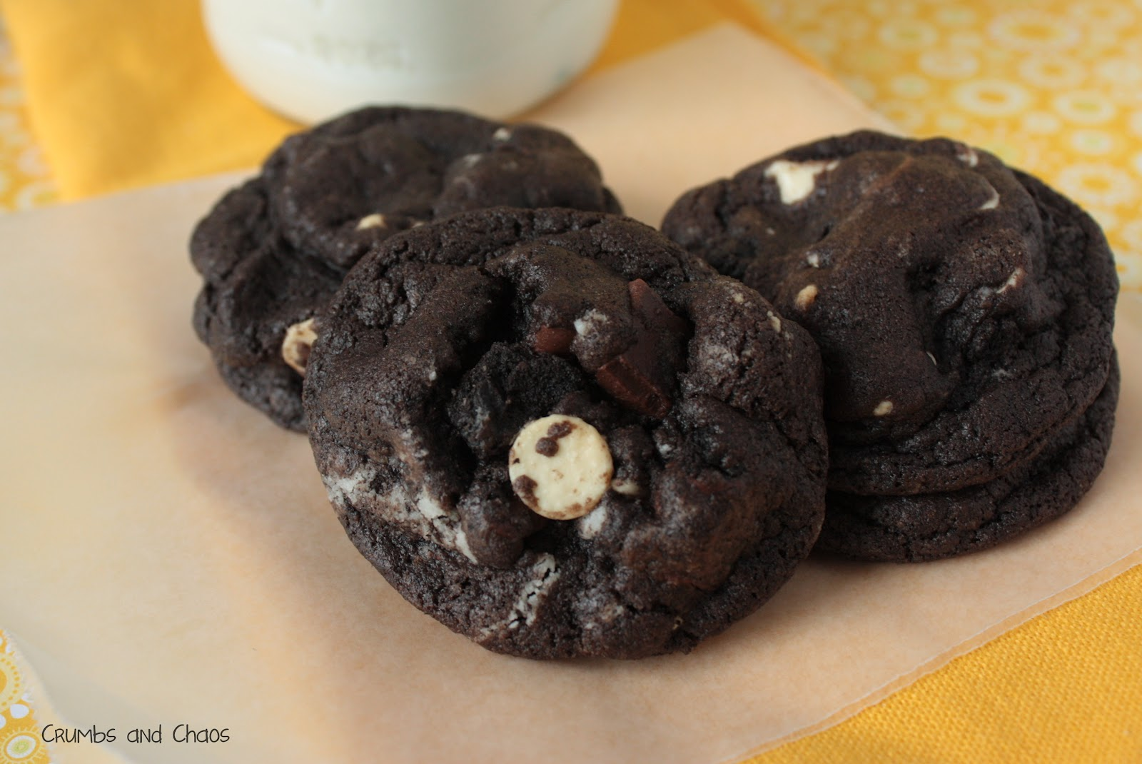 Triple Chocolate Oreo Chunk Cookies - Crumbs and Chaos