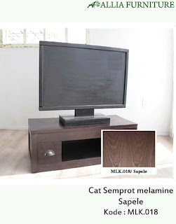 Contoh Furniture Semprot Melamine Sapele
