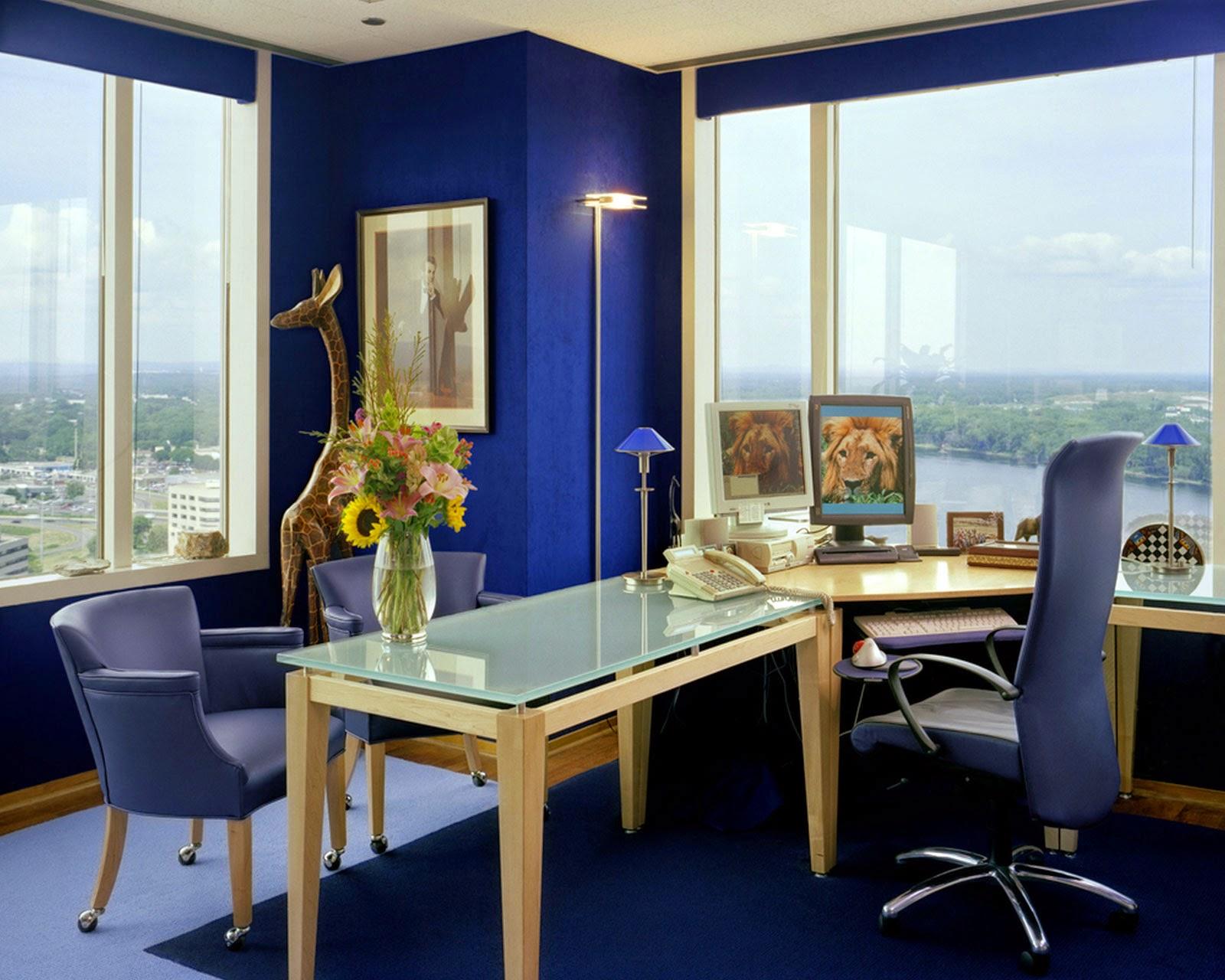 Design-Paint-Color-Blue-Minimalist-Work-Space