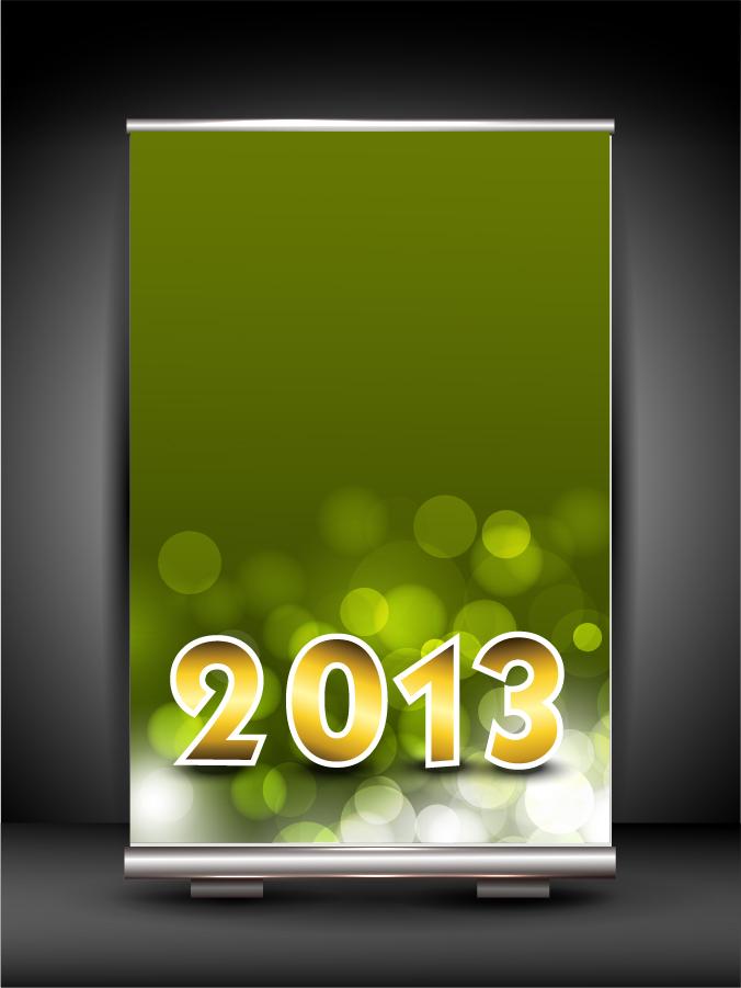 新年・クリスマスのバナーと背景 2013 New Year and Christmas backgrounds. イラスト素材2