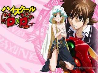 wallpaper hight school dxd manteb banget