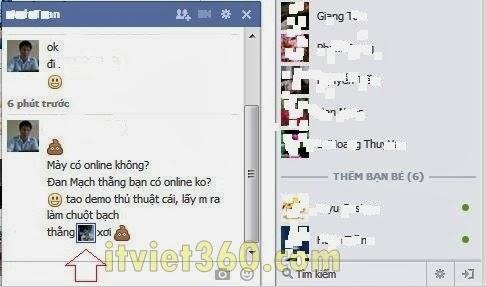 Cách chèn Avatar vào Facebook chat - Thủ thuật FB