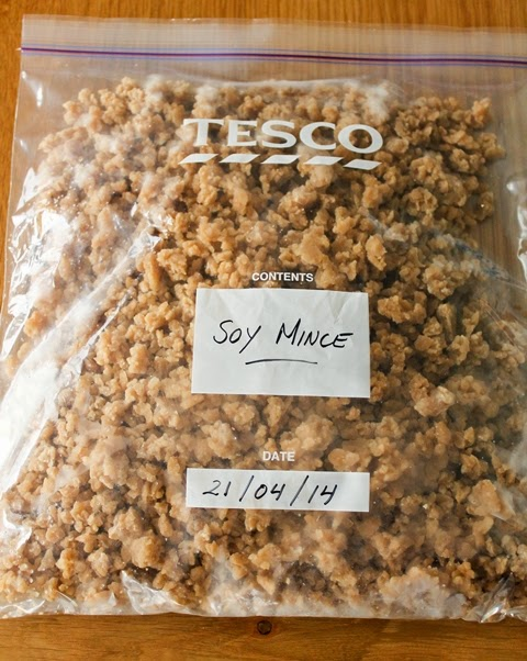 Homemade Frozen Vegan Soy Mince