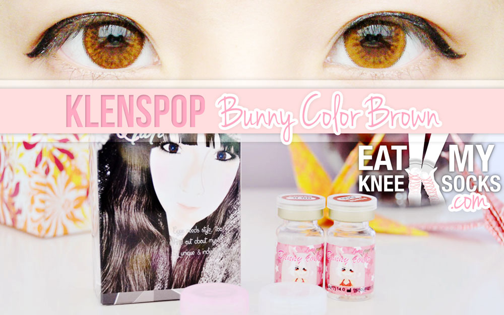 The Eat My Knee Socks intro picture for the Klenspop Bunny Color Brown circle lens review.