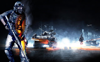 Battlefield 3 Commando Rifle Tanks Behind HD Wallpaper Cover
