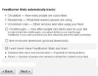 feedburner settings