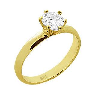 anel solitario presente namorada