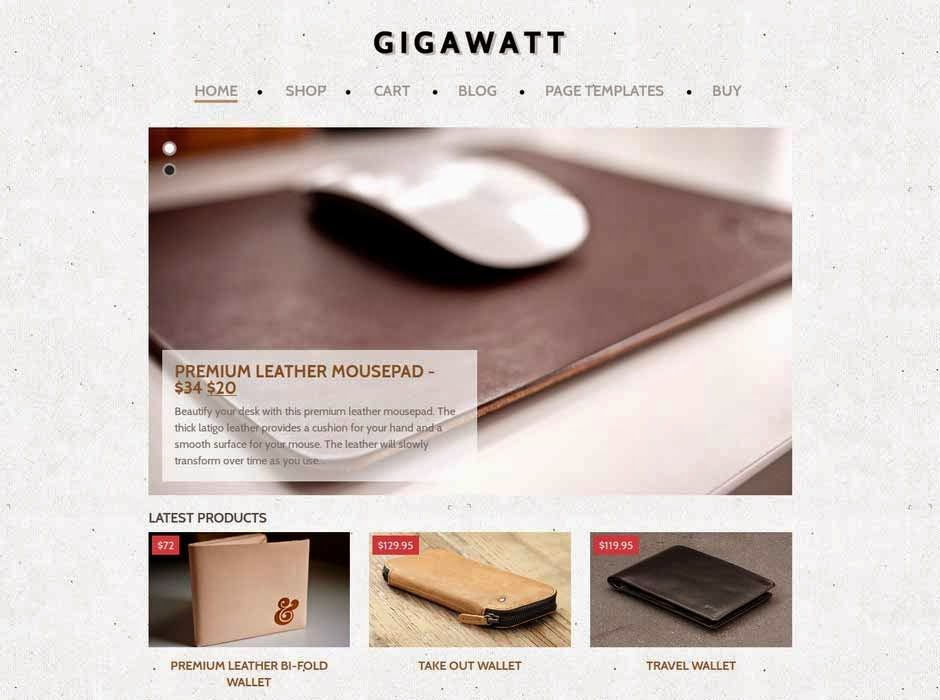 Gigawatt - eCommerce WordPress Theme