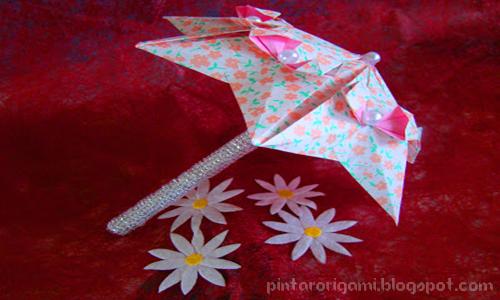 Origami Payung Lucu