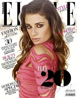 Magazine Cover : Lea Michele Magazine Photoshoot Pics on Elle Magazine Thailand January 2014 Issue