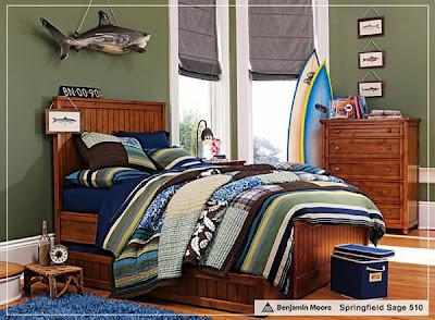 habitación estilo surf