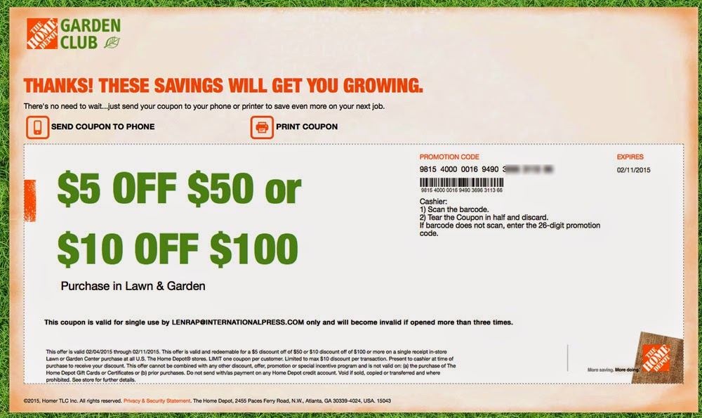 home depot promo code water heater