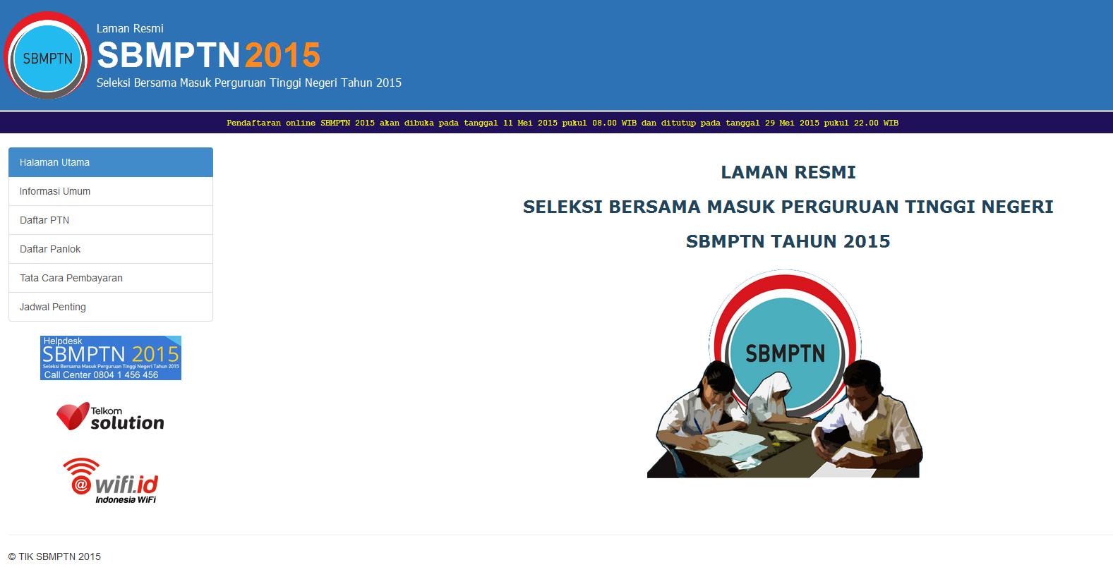 Pendaftaran SBMPTN 2015