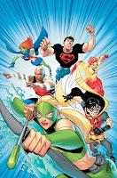 Capa da revista em quadrinhos da Justiça Jovem (Young Justice)