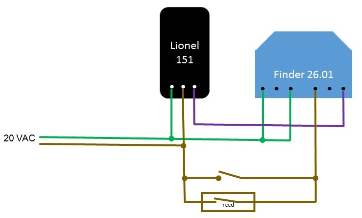 Lionel lines wiring a lionel 151 semaphore a contactor you need to think of something else this took me a while but i found that the finder 2601 impulse relay is well suited to do the job asfbconference2016 Images