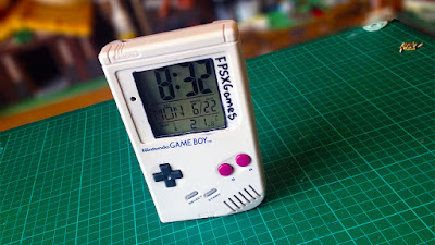 Nintendo Game Boy made into a digital clock