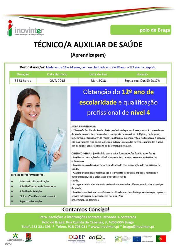 curso de aprendizagem de auxiliar de saúde em Braga