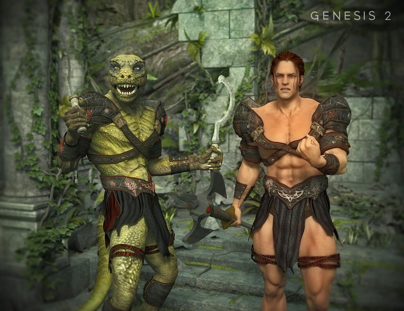 Guerrier tribal pour Genesis 2 Homme