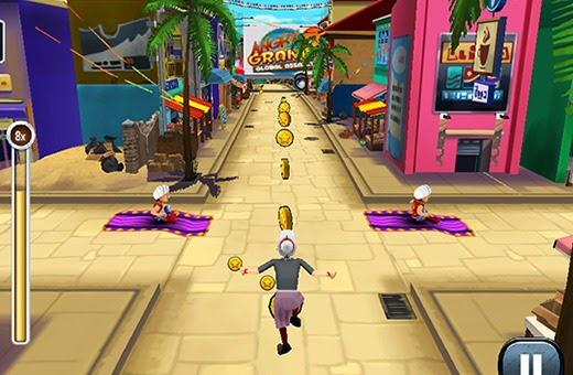 Online Angry Gran Run: India Game