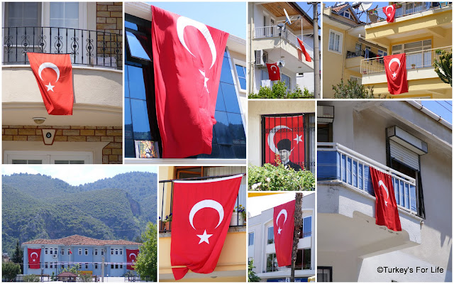 Turkish Flags in Fethiye