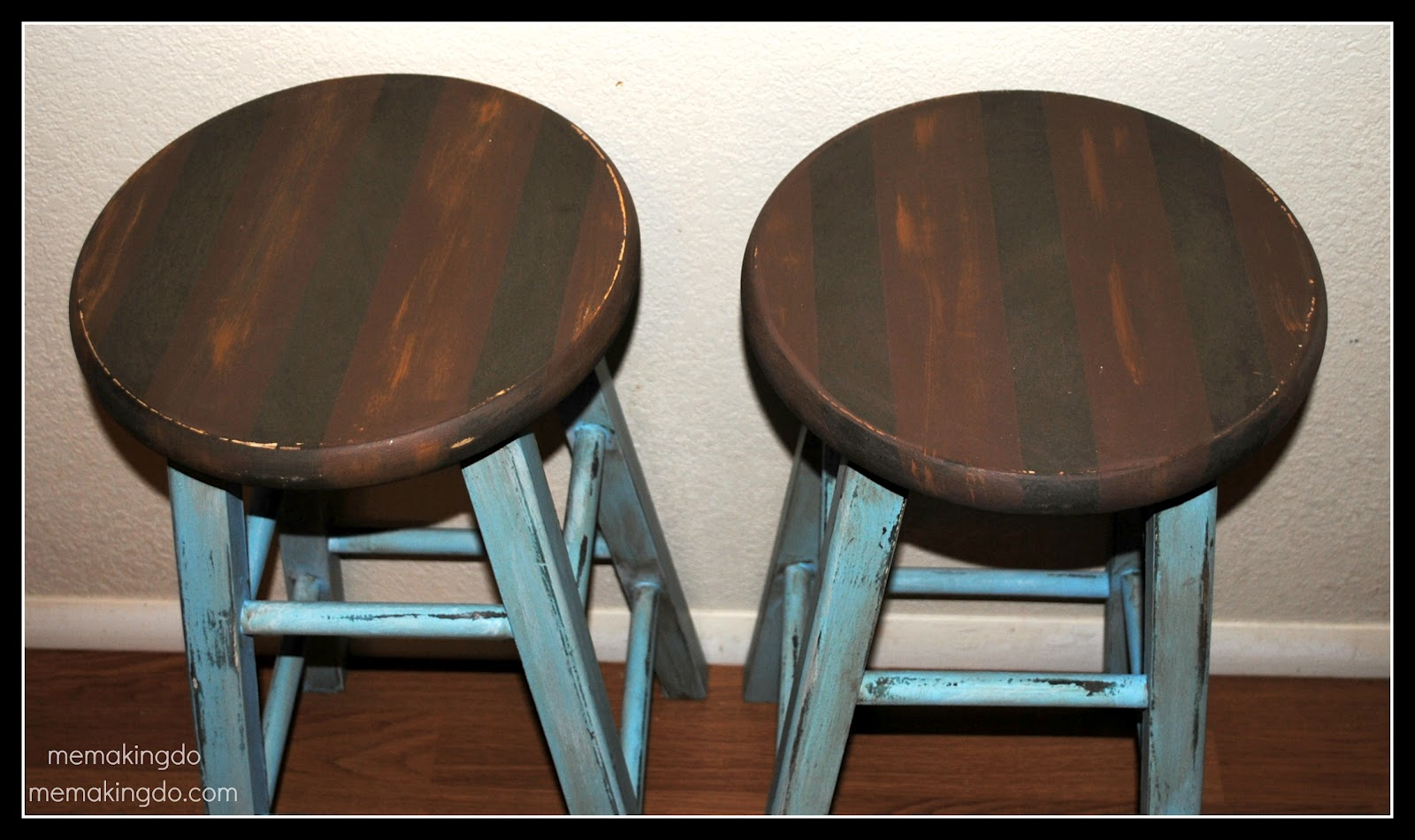 Bar Stool Makeover. Full resolution  portrait, nominally Width 1600 Height 950 pixels, portrait with #407E8B.