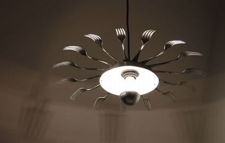 How to Recycle: Creative Recycled Chandeliers