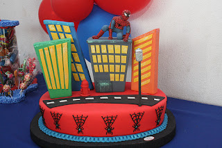 Spiderman Birthday Cake and Party Ideas