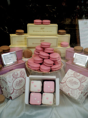 macaroons and fondant fancies in Betty's York
