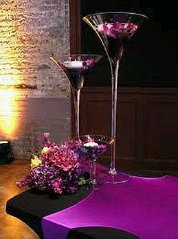 Centros de mesa con vasos y copas parte 1 for Centros de mesa con copas