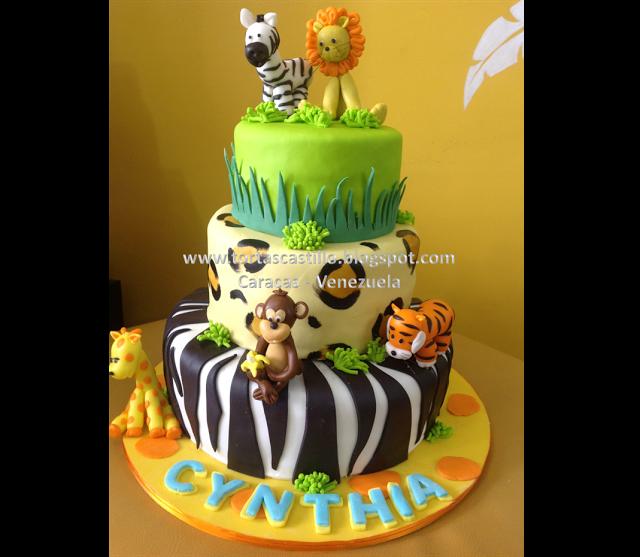 Torta Infantil Animalitos de la Selva