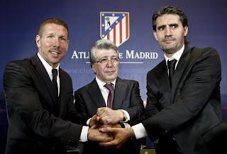 Simeone fue presentado oficialmente como técnico del Atlético de Madrid