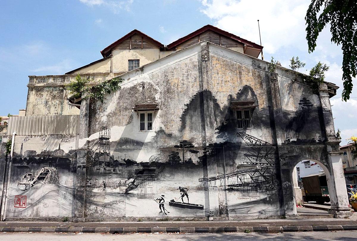 Great Street Art Paintings in Ipoh