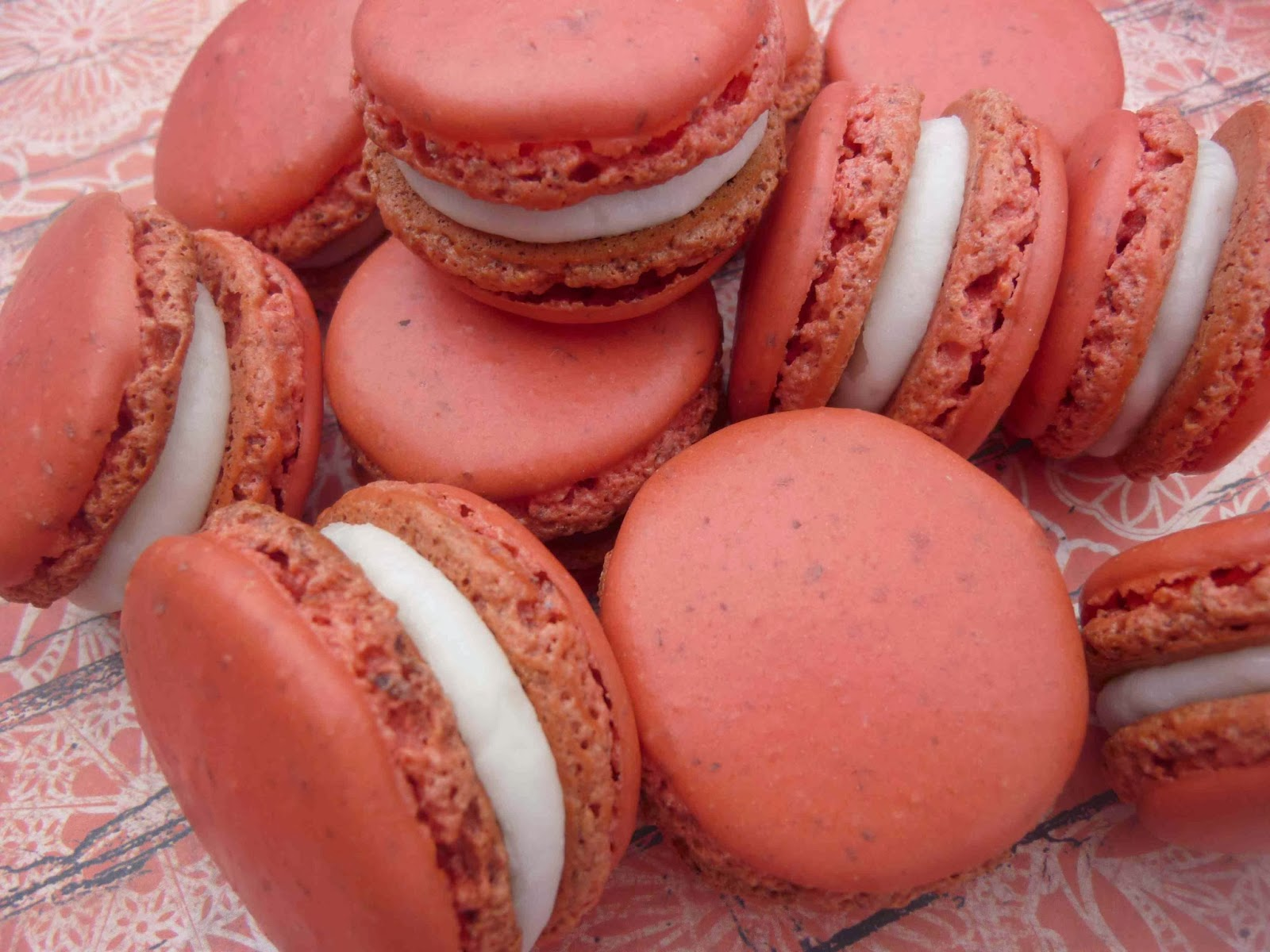 ... Mad Hausfrau: Rocking the Red Pump Today with Peony French Macarons