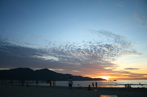 Danang beach at sunrise
