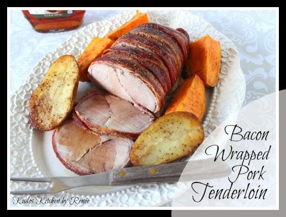 Bacon Wrapped Pork Tenderloin is fancy enough for company.