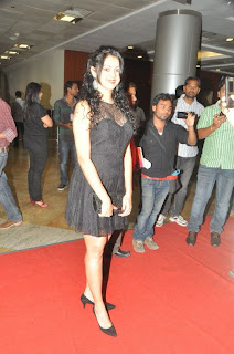 Kamna Jethmalani spotted in transparent black gown at CCL Season 2 Party