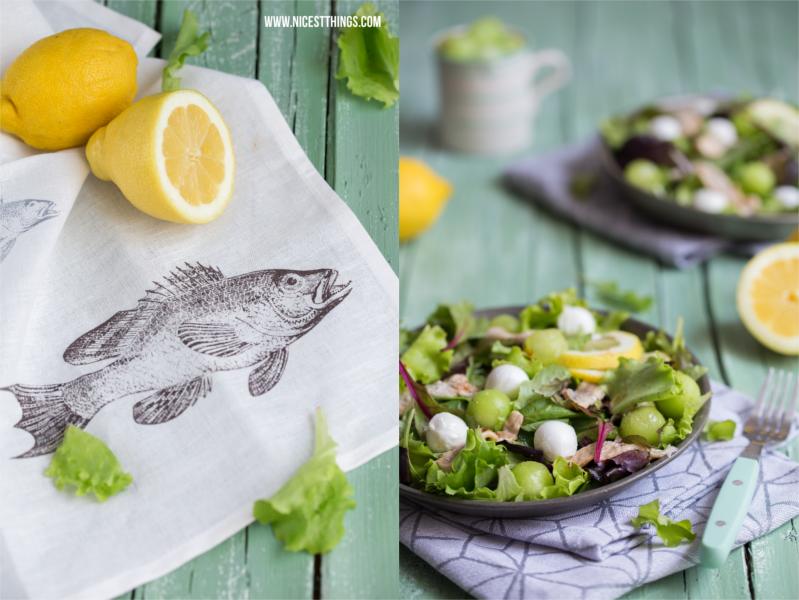 sommerlicher Salat mit Fisch und Melone