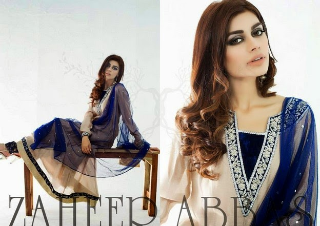 Zaheer Abbas Eid Collection 2014 wwwfashionhuntworldblogspot 6  - Zaheer Abbas Eid Collection 2014 For Women