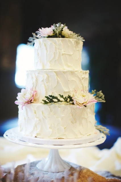 Rustic Spackle Buttercream Iced Cake - Minnesota