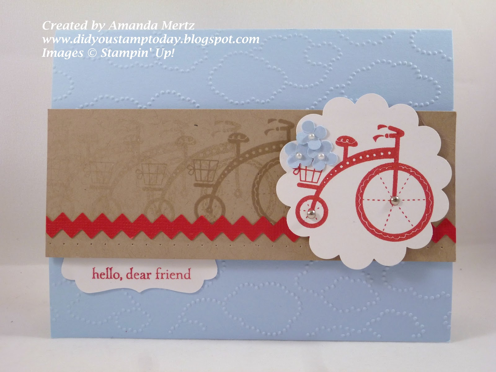 Did you stamp today moving bicycle here is one of the other cards we did at my moving forward card class kristyandbryce Image collections