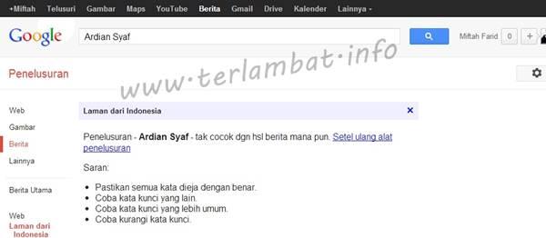 Berita Ardian Syaf