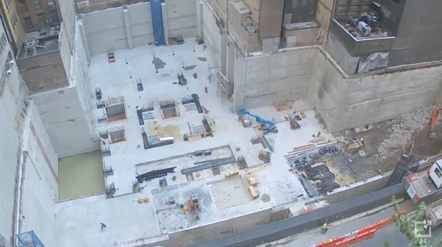 Photo of 432 park avenue construction site from the building across the street