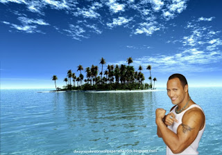 Desktop Wallpapers of Dwayne Johnson The Rock Shows Biceps Bull Tattoo Beautiful Island Desktop wallpaper
