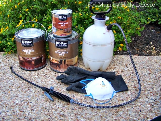 behr concrete dye application floor makeover sealer stain colors
