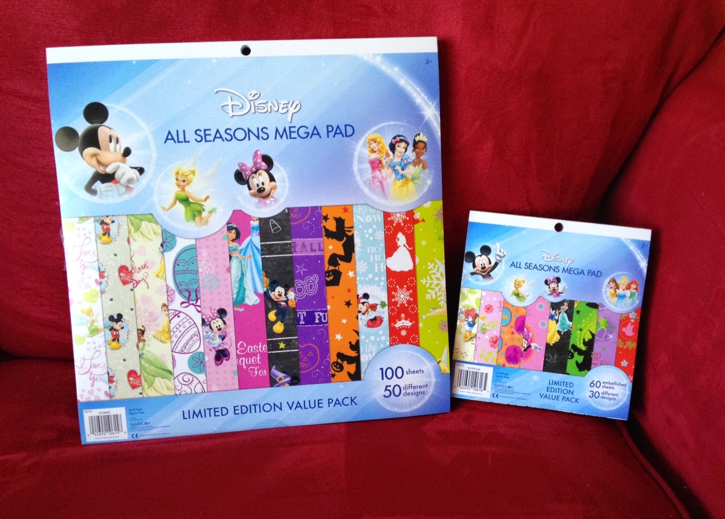 Scrapbook paper disney - I Threw My Willpower Out The Window And Completely Caved Getting The 12 X 12 And 8 X 8 Paper Stacks My Disney Holiday Addiction Is In A Happy Place