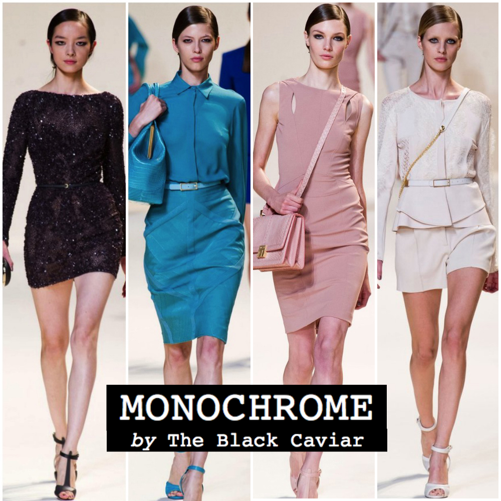 Summer fashion trend 2013: Monochrome (Ellie Saab)