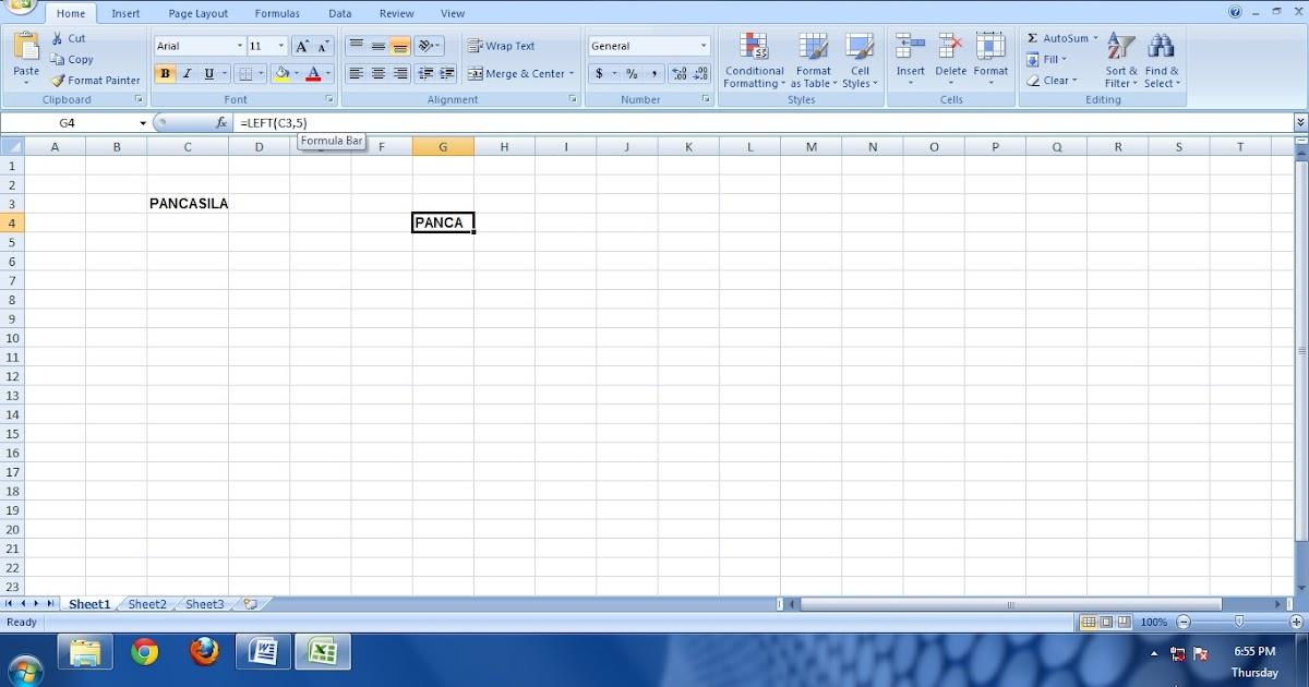 Muhammad Multazam Fungsi String Pada Microsoft Excel