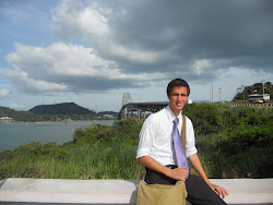 Jett with Panama Canal and Bridge of the Americas